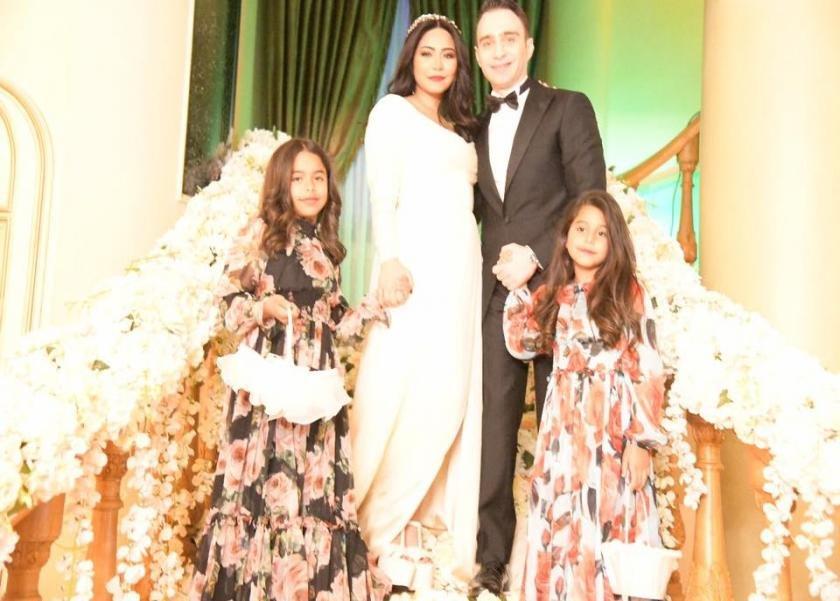شيرين وحسام حبيب وابنتيها