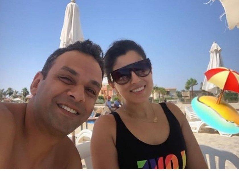 آيتن عامر وزوجها