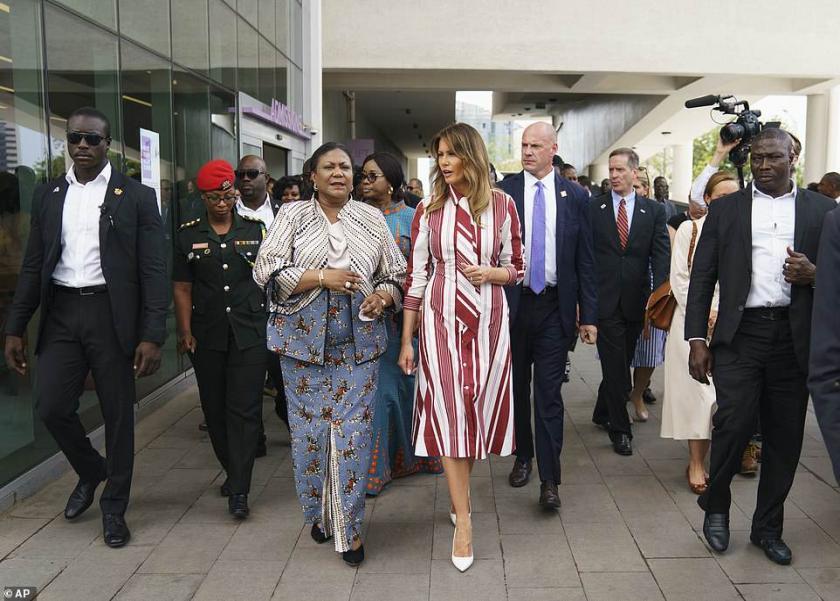 ميلانيا ترامب في زيارة غانا