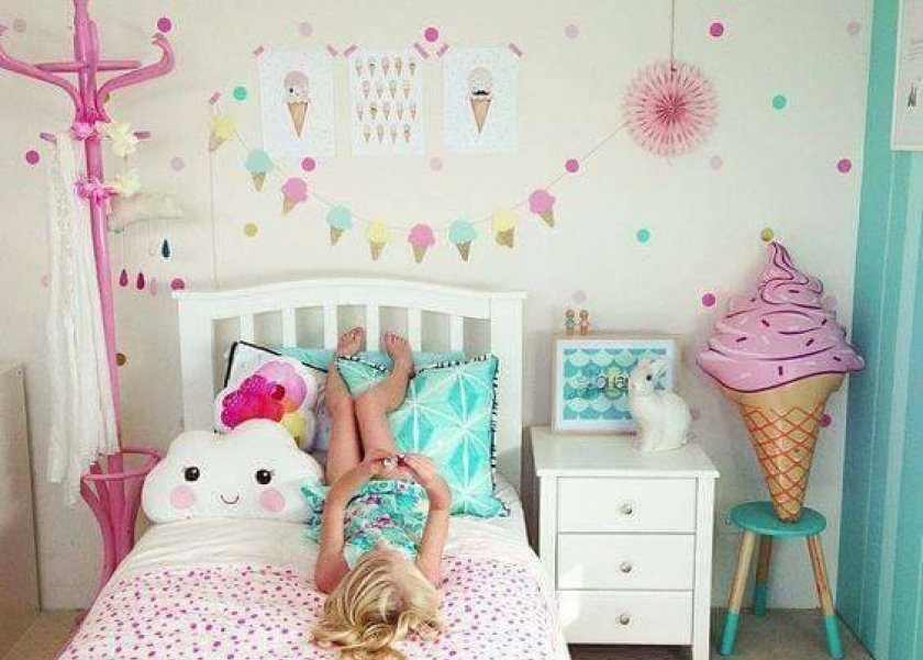 هن بالصور الزهري والفستقي أحدث درجات الألوان لغرف نوم الأطفال
