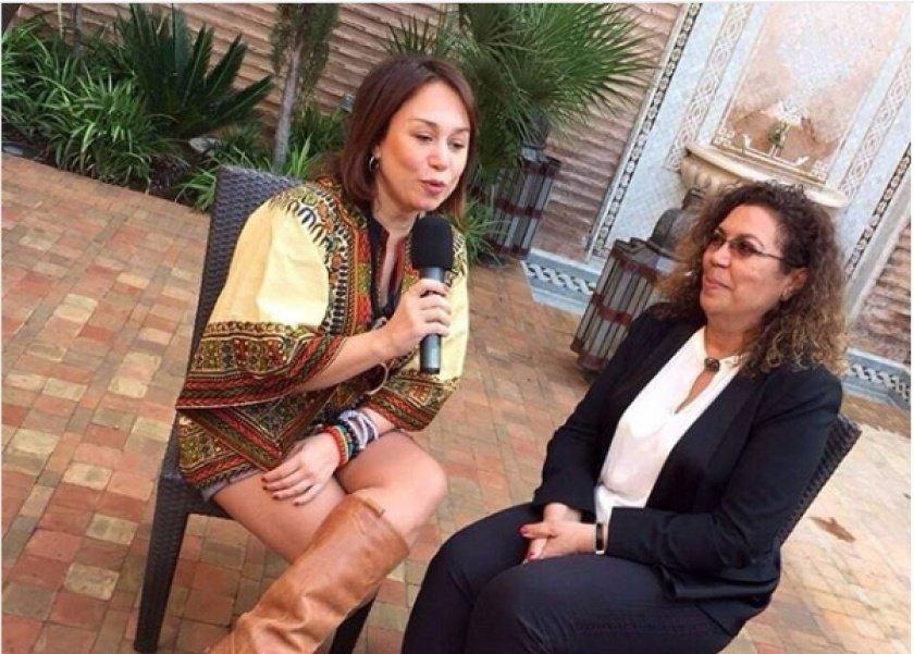 إنجي علي مع المنتجة المغربية خديجة العلمي