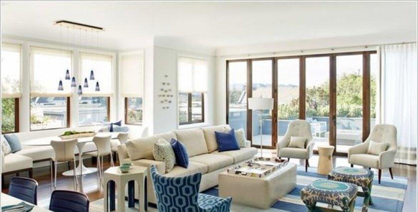 بالصور  استخدمي اللونين الأبيض والأزرق في ديكور منزلك