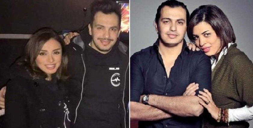 أحمد إبراهيم برفقة زوجته الحالية الفنانة أنغام وزوجته السابقة ياسمين عيسى