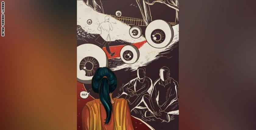 رسومات جريئة للنساء في باكستان
