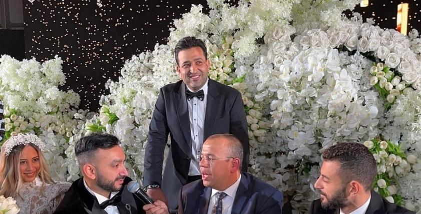 من حفل زفاف نادر حمدي وزوجته سارة حسني