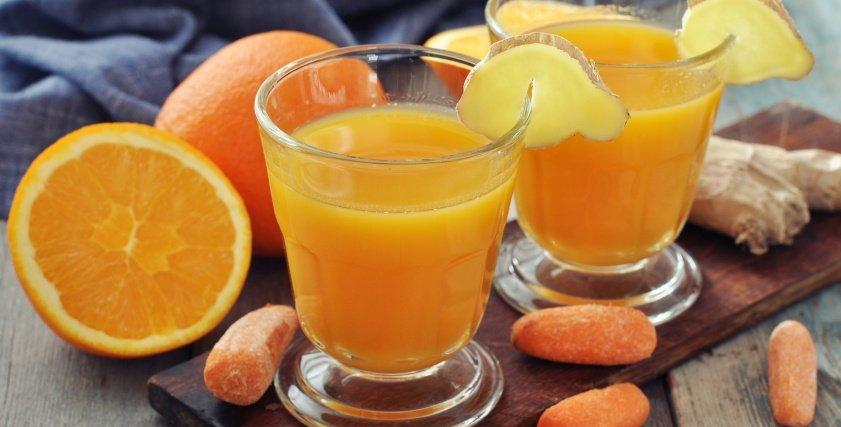 عصير برتقال بالجزر