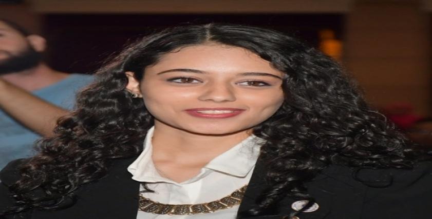 الطالبة دارين خليل رئيس اتحاد طلاب جامعة القاهرة