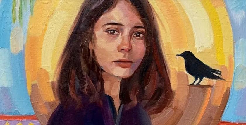 احدى لوحات الفنانة التشكيلية السعودية رحاب خالد
