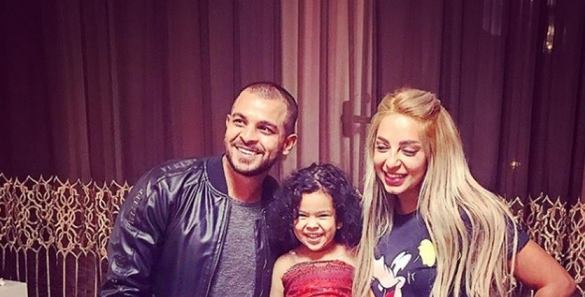مي حلمى ومحمد رشاد مع ابنة عبد الواحد السيد