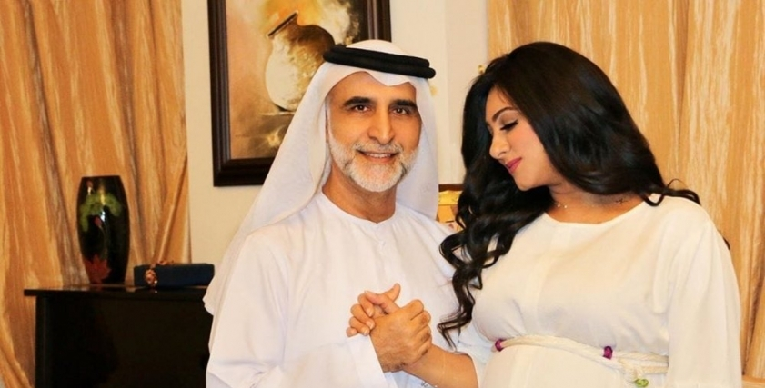 هيفاء حسين وزوجها حبيب غلوم