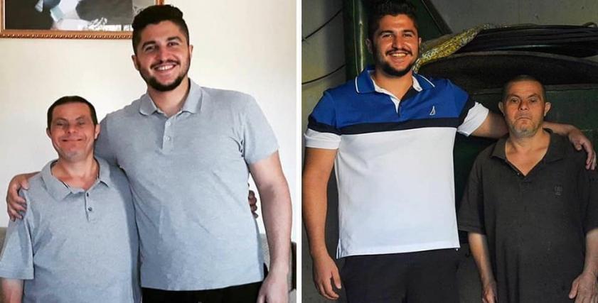 الشاب السوري صادر ووالده من أصحاب متلازمة داون