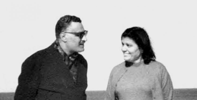 الرئيس الراحل جمال عبدالناصر وزوجته تحية