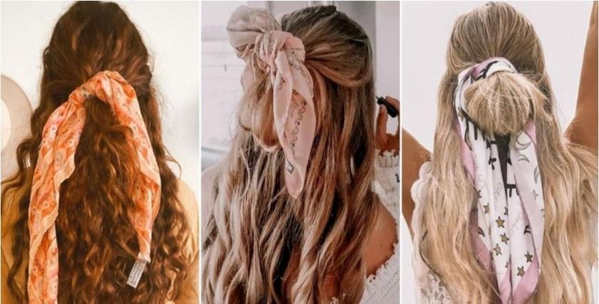 6 تسريحات شعر مختلفة لارتداء البندانا