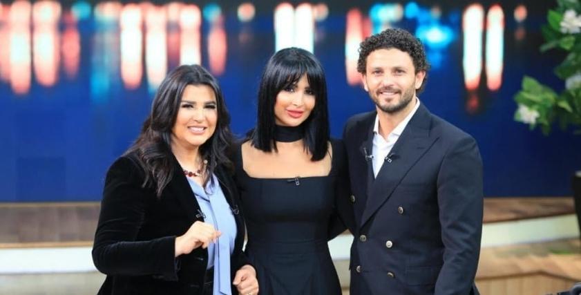 حسام غالي وزوجتهلميس أبو الفتوح  والإعلامية منى الشاذلي