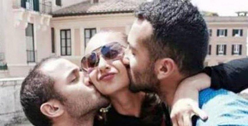 نيللي كريم مع أبنائها
