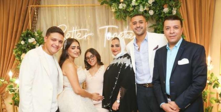 لقطات من حفل خطوبة فرح مصطفى كامل وقبطان بحري يوسف