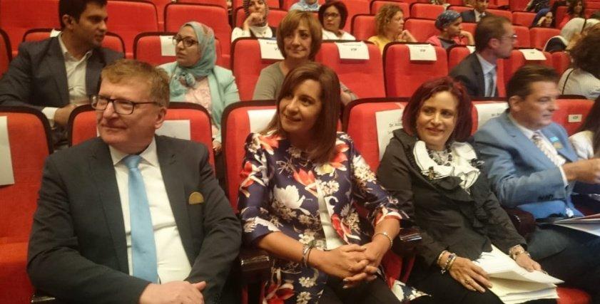 المسئؤلون المشاركون في المؤتمر الصحفي لعرض نتائج حملة