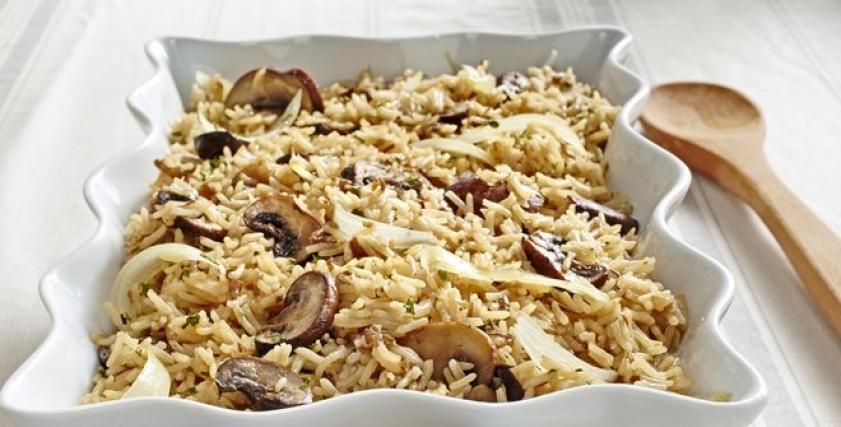 أرز بالدجاج والمشروم