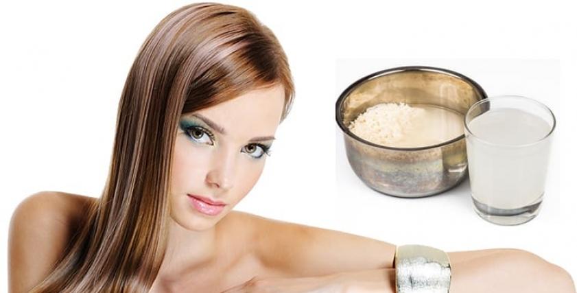 غسل الشعر والوجة بماء الأرز