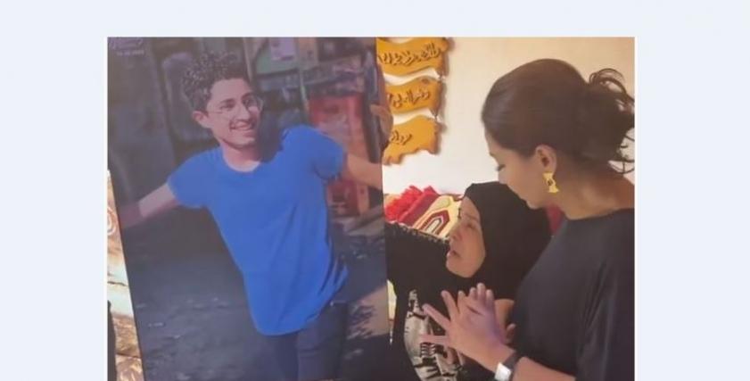 والدة محمود البنا مع بسمة وهبة