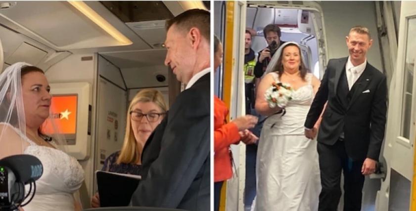حفل زفاف بين السما والأرض