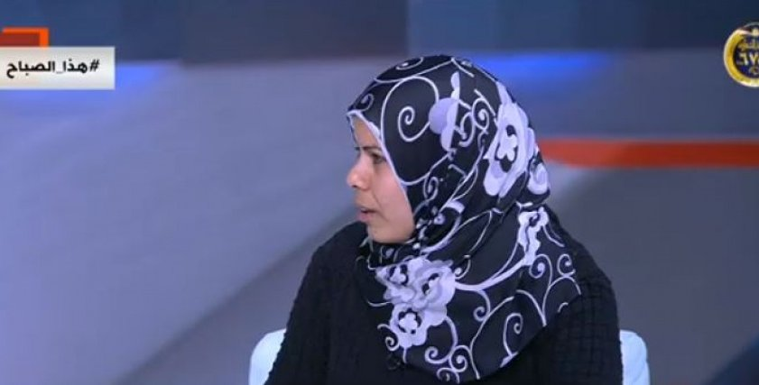 السيدة سماح العربي أرملة الشهيد محمد إسماعيل