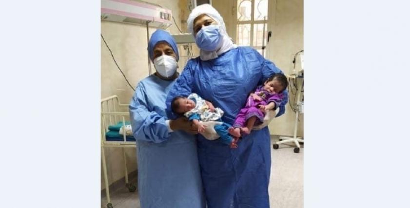 حقيقة إصابة مولودين