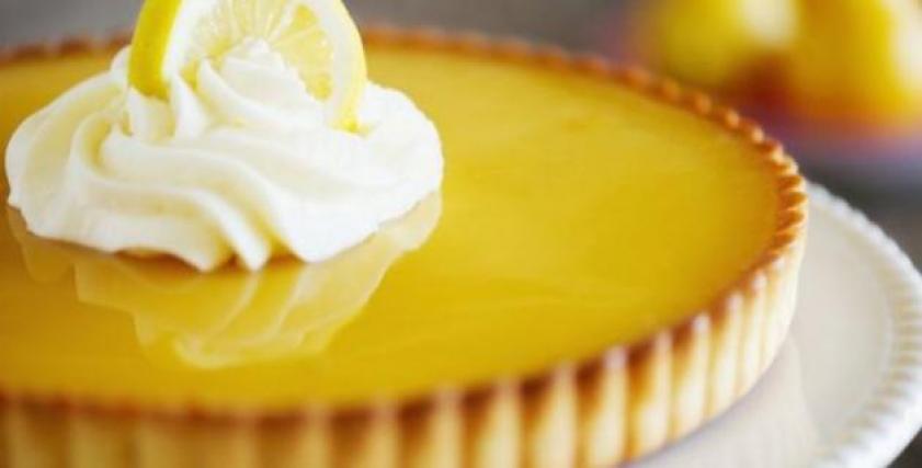 طبق فطيرة الليمون