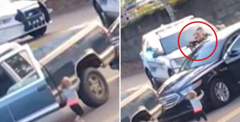 طفلة تسلم نفسها للشرطة