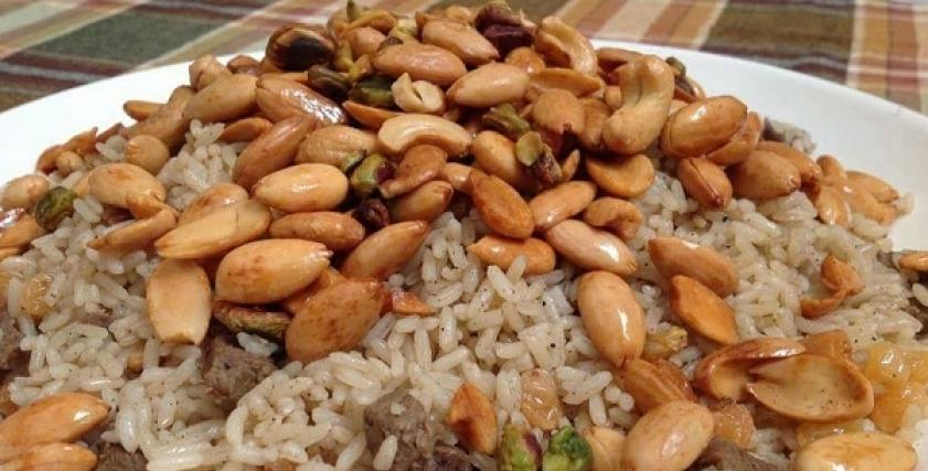 أرز خلطة بالمكسرات
