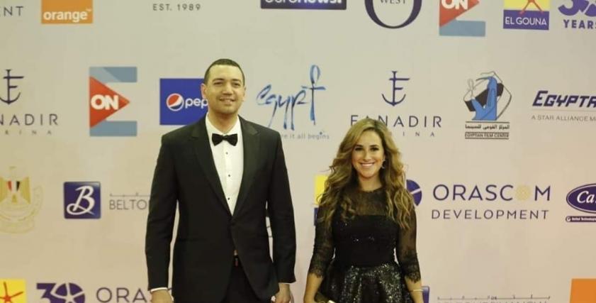 شيري عادل بصحبة معز مسعود في مهرجان الجونة