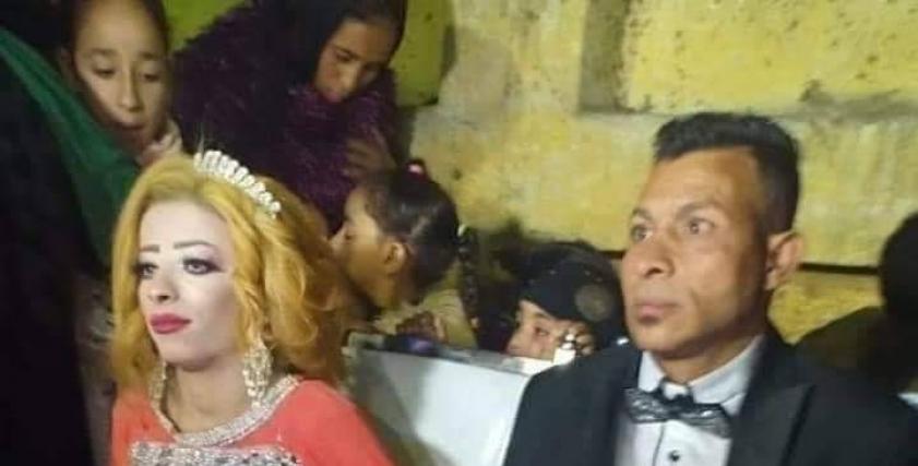 مشهد من حفل خطبة هدير محمد