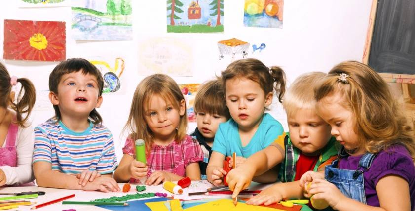 صورة أرشيفية لأطفال داخل حضانة