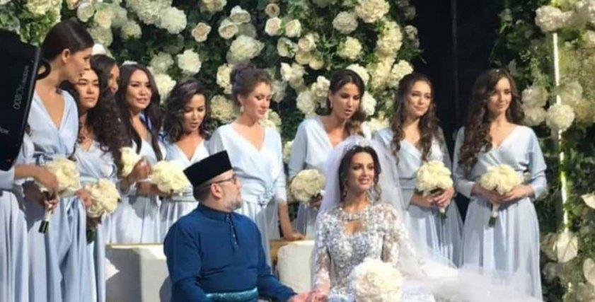 ملكة جمال روسيا ومالك ماليزيا السابق