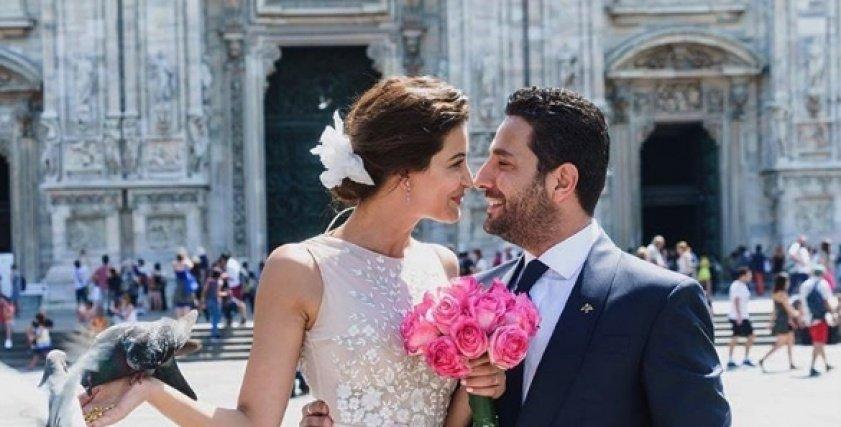 وسام بريدي وزوجته ريم