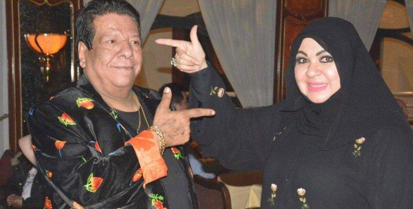 شعبان عبد الرحيم يغني لمصممة الأزياء العالمية منى المنصورى