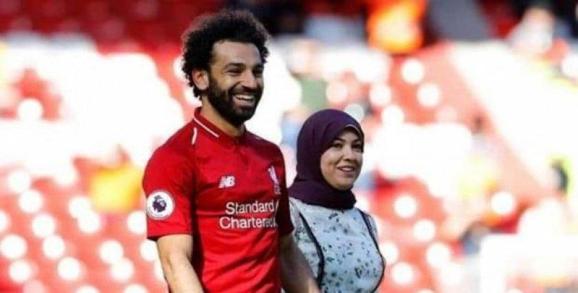 محمد صلاح وزوجته