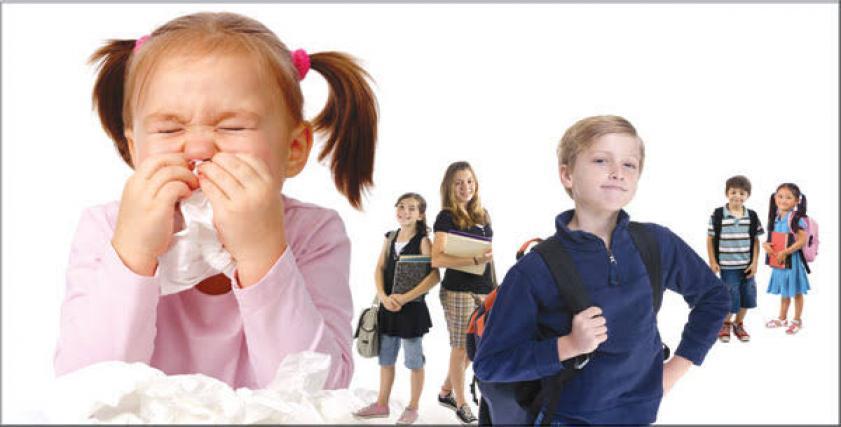 امراض الأطفال الأكثر شيوعًا في المدارس