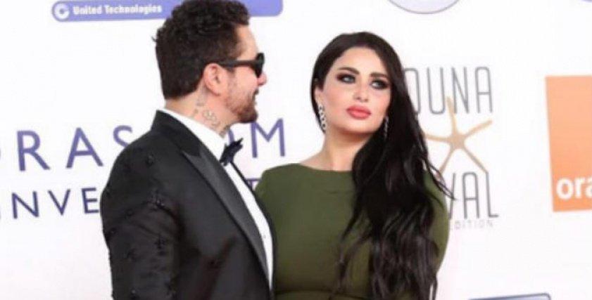 أحمد الفيشاوي وزوجته ندى الكامل