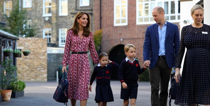 الأميرة شارلوت حفيدة ولي عهد بريطانيا تبدأ مشوار الدراسة