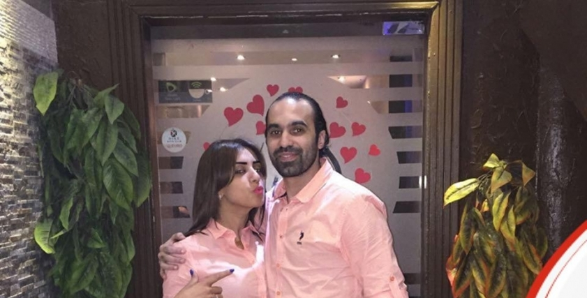 جمال حمزة وزوجته رشا بدر