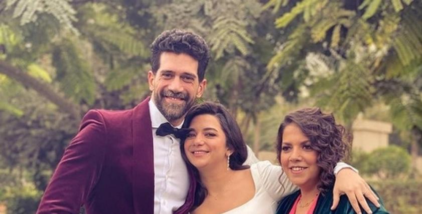 أحمد مجدي يحتفل بزفاف شقيقته