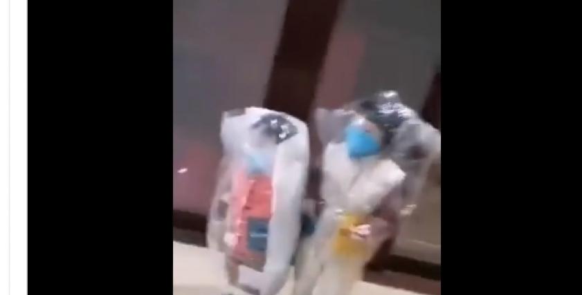 أم م تضع أولادها بالأكياس البلاستيكية