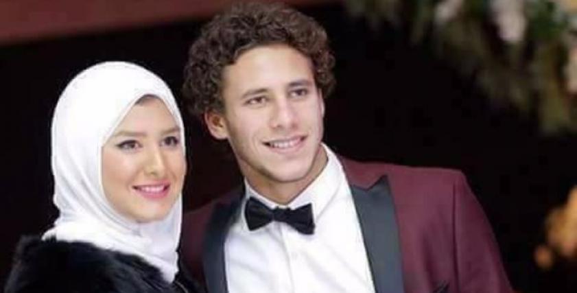 رمضان صبحي وزوجته حبيبة إكرامي