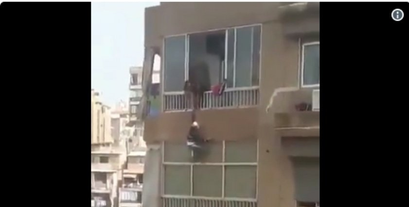 فيديو| خادمة تلقي بنفسها من الطابق التاسع بسبب المعاملة السيئة