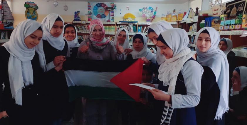 المعلمة الفلسطينة أسماء مصطفي