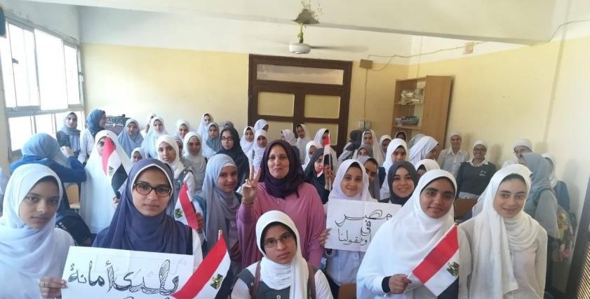 القومي للمرأة ينظم ندوة بلدي أمانة بمدرسة النزلة بالفيوم