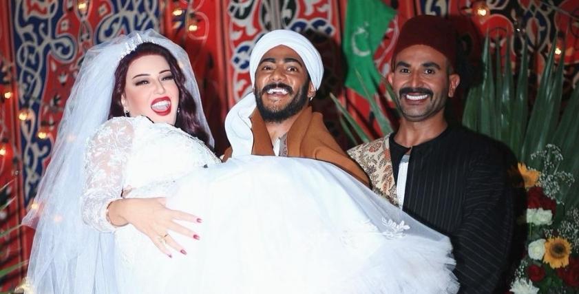 أحمد سعد وسمية الخشاب ومحمد رمضان